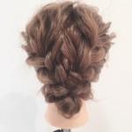 三つ編み二つで作るまとめ髪アレンジのやり方動画&静止画♪
