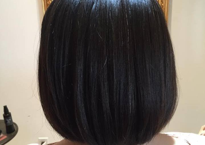 ゆるいくせも髪質改善ヘアエステしてまとめつつバッサリカット