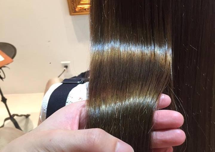 自然な縮毛矯正が上手い立川美容室らしさ人気のストレートエステで艶髪へ